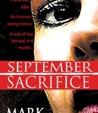 Paperback cover of September Sacrifice by Mark Horner. Cover features face of defendant Linda Henning. (Kensington Publishing Corp, 2004)