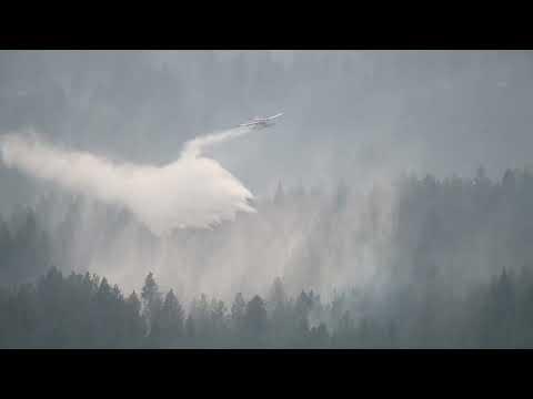 RAW VIDEO: White Rock Lake Wildfire at Okanagan Lake, British Columbia-Photographer Christian Sasse