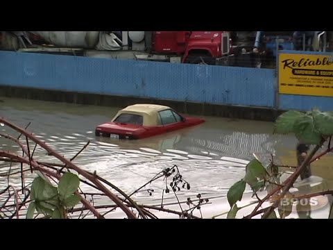 Snohomish River flood video set to music
