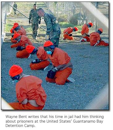 Prisoners at Guantanamo Bay detention camp