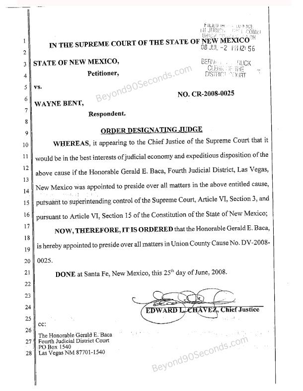 Order Designating Judge