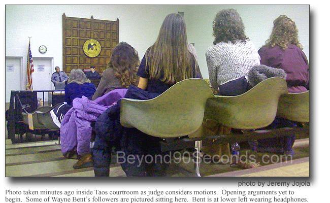 Wayne Bent supporters in court.