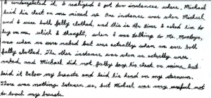 Excerpt of letter written with penmanship.