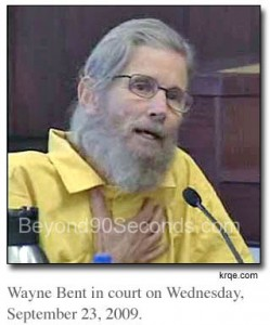 Wayne Bent testifying in court.