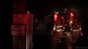 Firefighters at an early morning house fire in Snohomish County, WA.