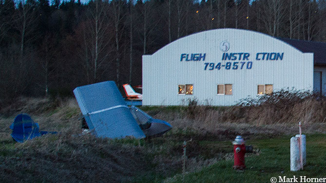 Small plane crashes in Monroe after propeller reportedly falls off.  Pilot escapes injury.