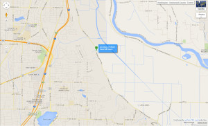Google map showing where trees fell onto Lowell-Larimer Road today.