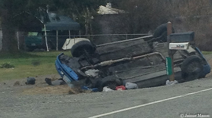 2-year-old girl airlifted to Harborview after rollover crash on SR 530