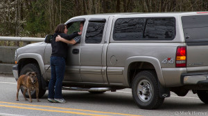 The moment Teresa Smith learns that her friends Ron and Gail Thompson are still alive. Ron Thompson pictured in vehicle.