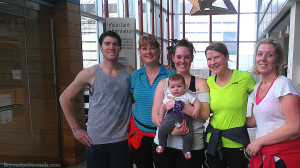 "Members of the Movers and Shakers team in this Sunday's ""Big Climb"" fundraiser for The Leukemia & Lymphoma Society, (from left) Timmothy Lang, Tracey Lang, Melissa Jacquot, John Jacquot, Traci Jones, and Danica Pattison."