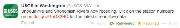U.S. Geological Survey tweet on March 10.